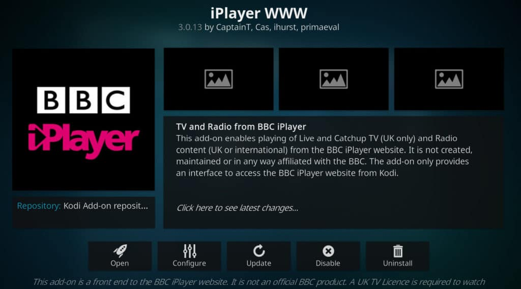 iplayer bob kodi add-on