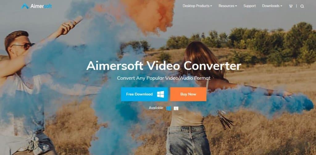 Aimersoft video converter.