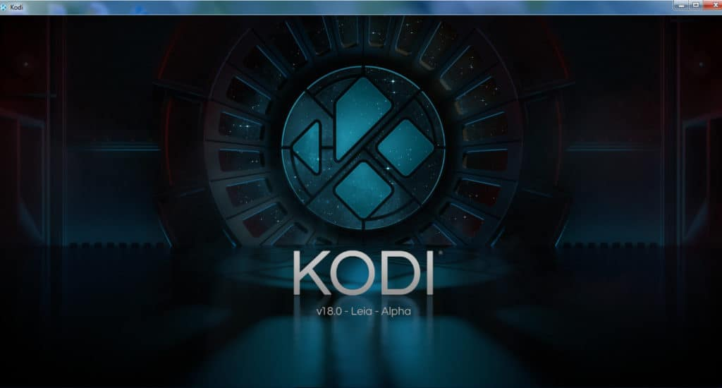 Kodi 18 Leia splash screen