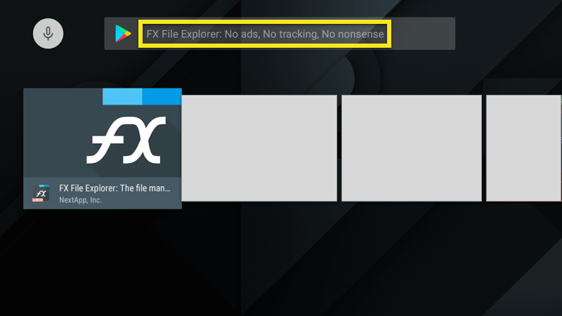 Cari FX File Explorer.
