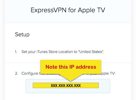 adres IP Apple TV