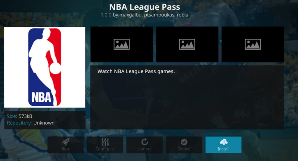 Addon NBA League Pass Kodi