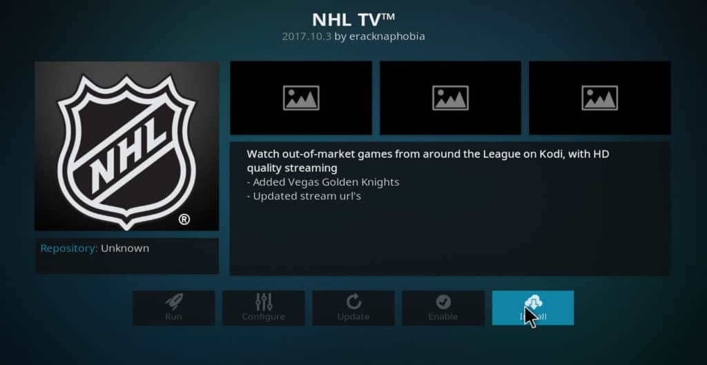Addon NHL TV Kodi