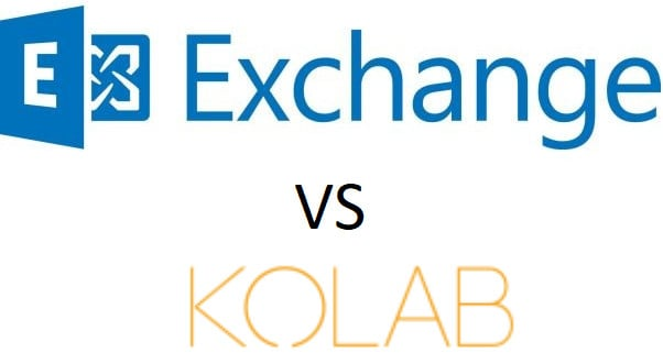 Microsoft Exchange Server проти Kolab