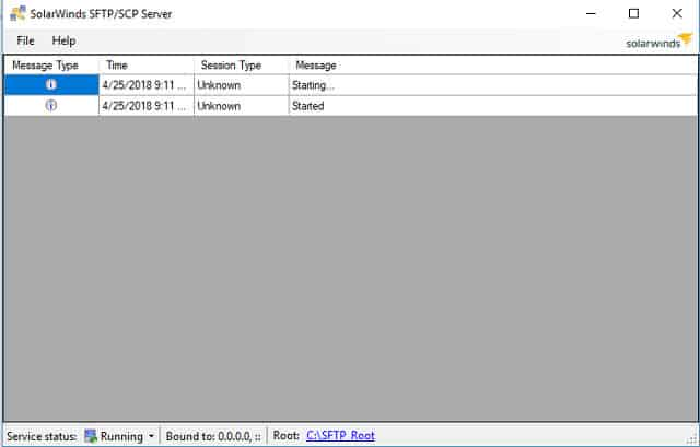 Ang SolarWinds SFTP / SCP Server