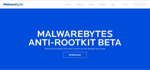 Malwarebytes Anti-rootkit screenshot